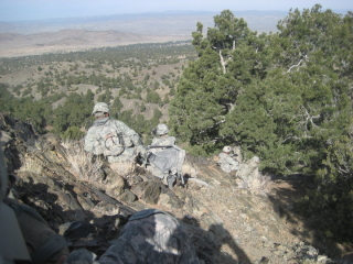 down the mnt afgan